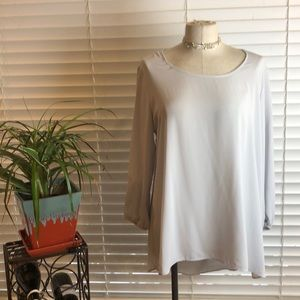 Charming Charlie | Gray sheer tunic top. Size XL